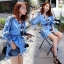 SV01310816 &#x1F389Sevy Embroidered Bohemian Cute Dolly Sleeve Tassel Rop Mini Dress Type: Mini Dress thumbnail 5