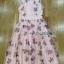 Lady Ribbon Roses Lace ขายเดรสผ้าลูกไม้สีชมพูพาสเทล thumbnail 7