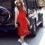 Glass Long Strip Skirt Set - เซ็ตเอี๊ยมสีแดงสด thumbnail 3