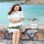 Shirt Dress เชิ้ตเดรสแขนสั้นผ้าลูกไม้สไตล์เฟมินีน thumbnail 6