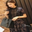 ชุดเดรสฉลุผ้าชีฟองเกาหลี thumbnail 2