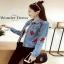 เสื้อผ้าแจ็คเก็ตยีนส์ฟอกสีซีด แฟชั่นแต่งกระเป๋าสไตล์สาวเกาหลี thumbnail 2