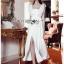 Dress Lady Ribbon ขายเดรสแขนระบาย thumbnail 5