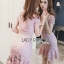 Lady Ribbon Mini Dress มินิเดรสผ้าลูกไม้ thumbnail 4