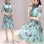 เสื้อผ้าแฟชั่นเกาหลี ชุดเดรสแฟชั่นผ้าไหมอิตาลี่ เนื้อผ้าสวยเงามีซิบ thumbnail 2