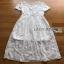 Lady Ribbon Sara Sweet Basic White Lace Dress thumbnail 7