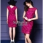 Lady Ribbon Online ขายส่งเสื้อผ้าออนไลน์ Very very pretty เสื้อผ้า VP0110816 Luxurious Floral Embroidery Lace Dress thumbnail 1