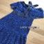 Lady Ribbon Black & Blue Lace Dress thumbnail 6