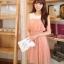 เดรสเกาหลีแขนกุดผ้าชีฟอง เอวยางยืด มีซับใน thumbnail 3