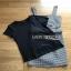 Lady Ribbon Black T-Shirt Dress Set ขายเซ็ตเสื้อยืด thumbnail 8