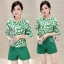 Sevy Two Pieces Of Leaves Blouse With Shorts Sets thumbnail 3