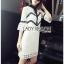 Lady Ribbon Mini Dress เดรสผ้าลูกไม้สีขาว-ดำ thumbnail 3