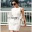 Lady Ribbon Denim Mini Dress มินิเดรส thumbnail 5