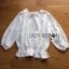 Lady Ribbon Online ขายส่งเสื้อผ้าออนไลน์ ขายส่งของแท้พร้อมส่ง Lady Ribbon LR09250716 &#x1F380 Lady Ribbon's Made &#x1F380 Lady Emily Sweet Scallop Laser-Cut and Embroidered Cotton Top thumbnail 5