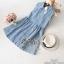 2Sister Made, Cuties Lovely Jeans Fashion Dress เดรสยีนส์แขนกุด เนื้อผ้าเดนิมฟอกสีสวย thumbnail 8