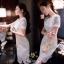 เดรสลูกไม้แฟชั่นเกาหลีผ้าหนาสวย thumbnail 2
