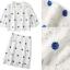 NA08290816 &#x1F389Normal Ally Present New collection autumn boutique blue flower lace set&#x1F389 (เซตเสื้อ + กระโปรง, มีซับในอย่างดีทั้งชุด) thumbnail 7