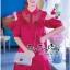 VP04310816 Red Layer Off-Shoulder Short Sleeves MiNi Dress มินิเดรสทรงเชิตสีแดงสวย thumbnail 4
