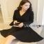 Lady ribbon Black Dress with Metal Ring thumbnail 8