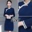 Dress คอจีน ทรงสวยเนื้อผ้าคอตตอนผสมโพลีเอสเตอร์ thumbnail 6