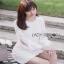 White Lady ribbon Lace and Chiffon Dress เดรสผ้าลูกไม้ thumbnail 5