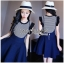 Lady Ribbon Online ขายส่งเสื้อผ้าออนไลน์ ขายส่งของแท้พร้อมส่ง Lady Ribbon LR13250716 &#x1F380 Lady Ribbon's Made &#x1F380 Lady Kylie Striped Ruffle-Sleeve Top and Overall Skirt Set thumbnail 4