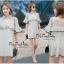 VP02310816 Luxury Floral Embroidery MINI Dress มินิเดรสสไตล์เกาหลี น่ารักมากค่ะ thumbnail 1
