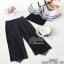 เสื้อเปิดใหล่ผ้าแก้วพร้อมกางเกงขายาวสีดำ thumbnail 6