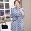 Lady Ribbon Jackie Blue Cotton Shirt Dress thumbnail 2