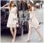Lady Ribbon Online ขายส่งเสื้อผ้าออนไลน์เลดี้ริบบอน LR16010816 &#x1F380 Lady Ribbon's Made &#x1F380 Lady Selena Classic Elegant Sleeveless White Mixed Lace Top เ thumbnail 1