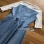Lady Ribbon Denim Mini Dress ขายมินิเดรสเกาะอก thumbnail 7