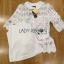 Lady Ribbon Online เสื้อผ้าออนไลน์ขายส่ง Lady Ribbon เสื้อผ้า LR10180816 &#x1F380 Lady Ribbon's Made &#x1F380 Lady Elena Elegant Chic Button-Down White Lace Blouse with Ribbon เสื้อผ้าลูกไม้สีขาว thumbnail 5