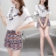 Lady Ribbon Online เสื้อผ้าแฟชั่นออนไลน์ขายส่ง เลดี้ริบบอนของแท้พร้อมส่ง sevy เสื้อผ้า SV06240716 &#x1F389Sevy Two Pieces Of V-Tassel Blouse With Bohemian Shorts Sets thumbnail 2