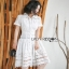 Lady Ribbon Sweet White Lace Shirt Dress thumbnail 3