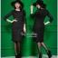ชุดเดรสออกงานสีดำงานสวยค่ะ เสื้อผ้าเกาหลีเนื้อผ้า thumbnail 2