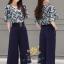 ชุดเซท เสื้อ+กางเกง เสื้อเป็นชีฟองเกาหลีเ thumbnail 1