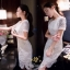 เสื้อผ้าลูกไม้แฟชั่นเกรดดีเกาหลีสีขาว thumbnail 2