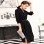 เสื้อผ้าคอวีแฟชั่นกระดุมเดรสเกาหลีติดกระดุม thumbnail 3