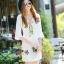 NA10010916 &#x1F389Normal Ally Present White boutique autumn classic dress&#x1F389 (เดรส , มีซับในอย่างดี ,ซิปข้าง) thumbnail 4