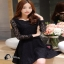เสื้อผ้าแฟชั่นเกาหลีCliona Black Lace Dress - ลูกไม้นิ่ม เกรดดี thumbnail 2