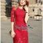 Lady Ribbon Online เสื้อผ้าแฟชั่นออนไลน์ขายส่ง เลดี้ริบบอนของแท้พร้อมส่ง Veryverypreppy เสื้อผ้า VP03240716 Luxurious Classic Floral Lace Dress thumbnail 4
