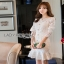 Lady Ribbon Peplum Lace Dress เดรสผ้าลูกไม้สีขาวสไตล์วินเทจ thumbnail 2