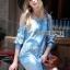 Lady Ribbon Online เสื้อผ้าออนไลน์ขายส่ง lady ribbon เสื้อผ้า LR05150816 &#x1F380 Lady Ribbon's Made &#x1F380 Ashley Summery Off-Shoulder Denim Cotton and Lace Dress เดรสเปิดไหล่ thumbnail 4