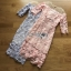 Lady Ribbon Organza and Guipure Lace Dress thumbnail 5