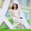Maxi ผ้าลูกไม้เกาหลีคอเหลี่ยมสีขาว thumbnail 2