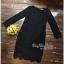 เสื้อผ้าแฟชั่นเดรสผ้าลูกไม้สีดำเรียบหรู เสื้อผ้าแฟชั่นออนไลน์ thumbnail 4