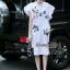 NA03290816 &#x1F389Normal Ally Present embroiders autumn collection dress&#x1F389 (เดรสผ้ายืด, ปักเลื่อมสลับสี) thumbnail 2