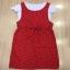 Glass Long Strip Skirt Set - เซ็ตเอี๊ยมสีแดงสด thumbnail 4