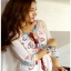 Chic Colorful Embroidered Cotton Lady Ribbon Dress thumbnail 4