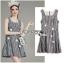 Lady Ribbon Online ขายส่งเสื้อผ้าออนไลน์ ขายส่งของแท้พร้อมส่ง Lady Ribbon LR21250716 &#x1F380 Lady Ribbon's Made &#x1F380 Lady Jennifer Summery Pretty Daisy Embroidered Plaid Dress สำเนา thumbnail 3